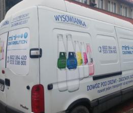 Reklama na pojazdach Wysowianka