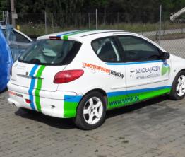 Reklama na pojazdach Motopark Kraków