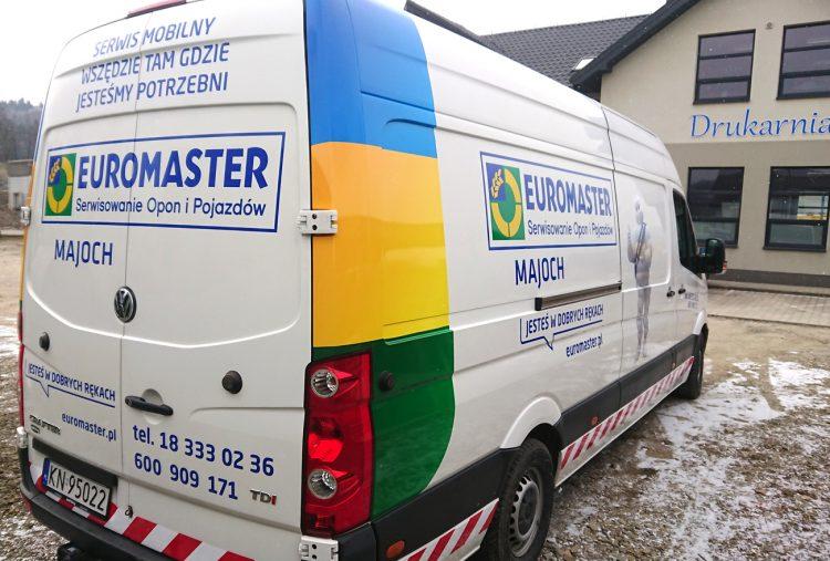 Euromaster – reklama na samochodzie