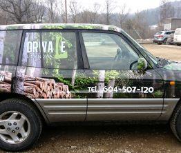 Reklama na samochodzie – Drwale