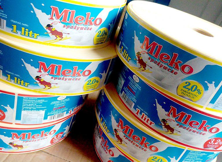 Etykiety na mleko – OSM